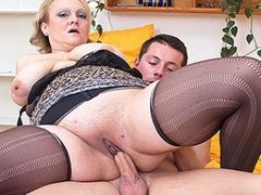 Busty Mature Wife with young lover